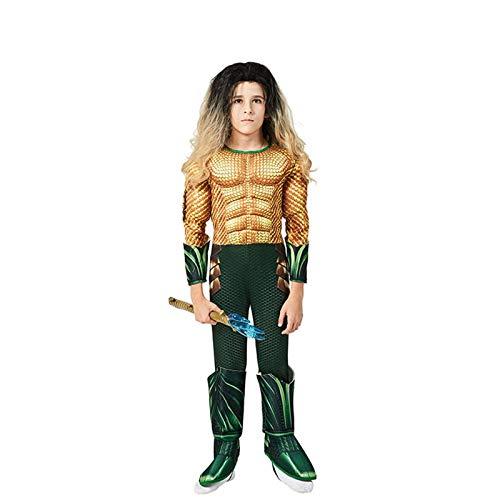 GAOAO Disfraz de superhéroe Infantil Neptune Muscle, Cosplay de Personaje de película, Disfraz de Cosplay