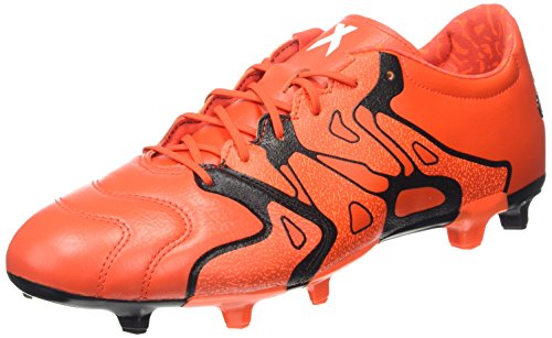 adidas X 15.2 FG/AG Leather, Herren Fußballschuhe, Orange (Bold Orange/Core Black/Solar Orange), 40 2/3 EU (7 Herren UK)