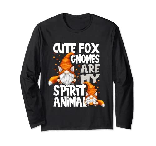 Lindo Fox Spirit Animal Cita Para Los Amantes Del Gnomo Red Fox Gnomos Manga Larga
