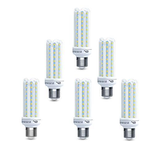 GY Bombilla de LED 4U 15W maíz E27 de 15 W, bombilla LED para candelabro, 3000 K blanco cálido, 1200 lm, equivalente a bombilla incandescente de 150 W, bombilla LED de tornillo Edison, 6 unidades