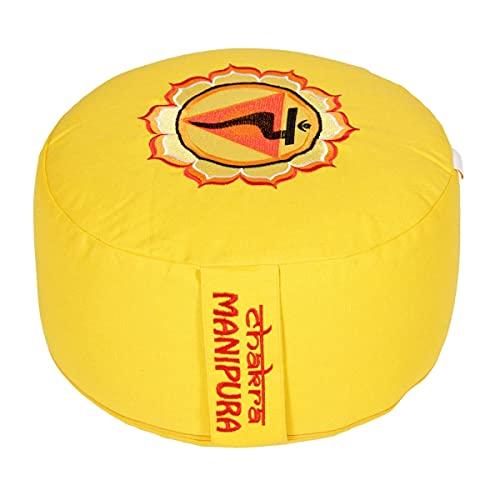 Yogabox Meditationskissen Glückssitz Chakra, 3.Chakra Solar-Plexus-Chakra (Manipura) / gelb