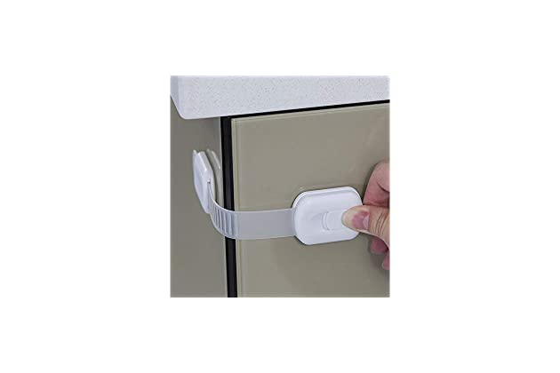 /& More By Jool Baby 4 Pack Cabinets Child Safety Strap Locks for Fridge