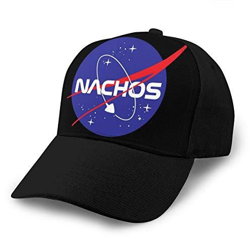 Hongyan Baseballkappe NASA Nachos Dad Hut verstellbar atmungsaktiv für Männer Frauen schwarz