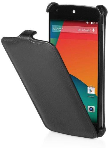 StilGut Slim Hülle, Exklusive Tasche für Google Nexus 5, Schwarz