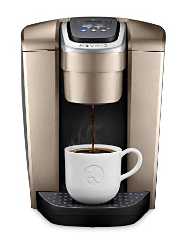 Keurig K-Elite Coffee Maker, Single Serve K-Cup Pod Coffee Brewer, With Iced Coffee Capability, Brushed Gold (Renewed)