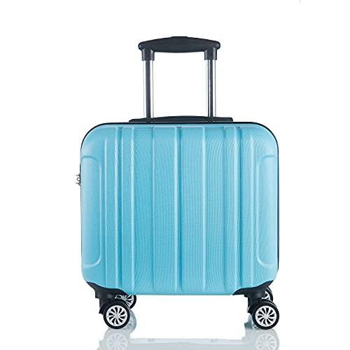SGCDKSP Caja de la Carretilla de Negocios, Caja de embarque de Ruedas Universal, Maleta, Equipaje de Hombres y Mujeres,Azul,16 Inch Upgrade