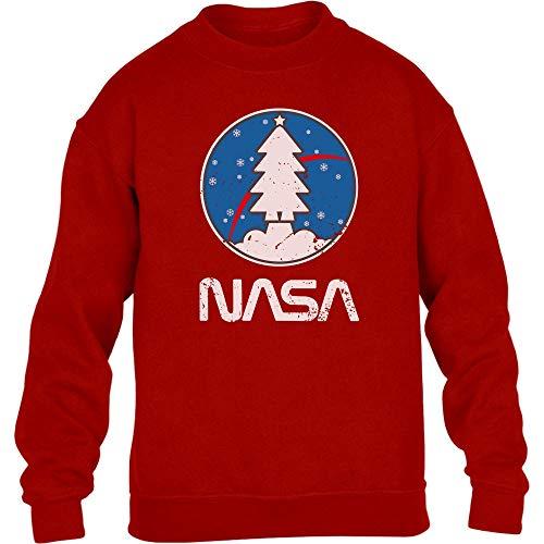 Shirtgeil Space NASA - Maglia Natalizia, Idea Regalo Maglione per Bambini e Ragazzi 12-14 Anni Rosso