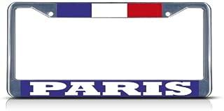 Fastasticdeals France Paris License Plate Frame Tag Holder Cover