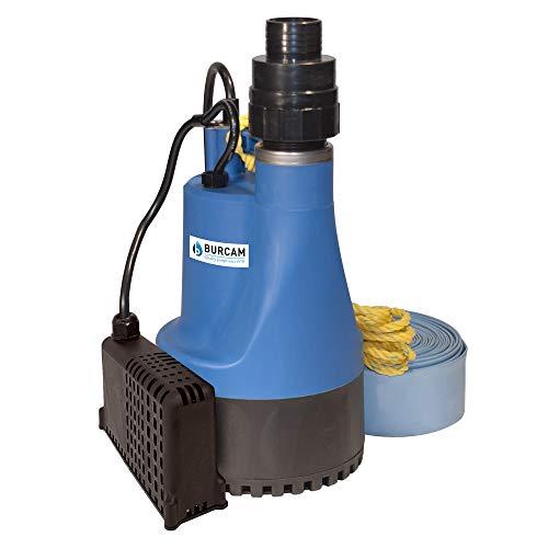 Bur-Cam 300509PSZ 1/2HP High Capacity Automatic Submersible Utility Pump, Blue
