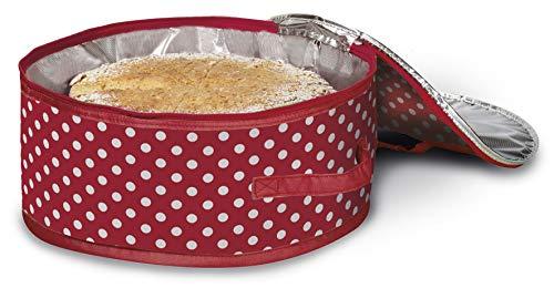 My Home Torten-Kühltasche, rot gepunktet