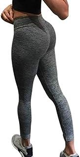 Lady Workout Leggings Fitness Sports Gym Running Yoga Athletic Pants Yoga Pants Women High Waist Seamless Leggings 2019#ES : Dark, L, China