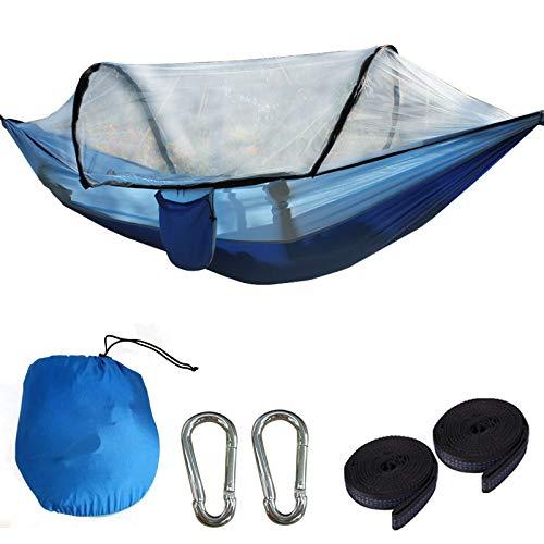 Outdoor Hängematte mit Moskitonetz - Robustes, ultraleichtes Hängezelt perfekt geeignet für Camping, Outdoor & Survival (Hängematte 8)