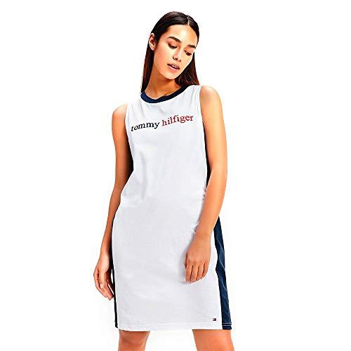 Tommy Hilfiger Dress Chaqueta de Estar por casa, Blanco, Medium (Talla del Fabricante:) para Mujer