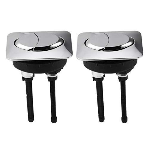 Angoily 2 Piezas de Botones de Depósito de Inodoro Botones de Doble Descarga Botones de Inodoro de Plástico ABS Botón de Inodoro Reemplazo de Botón de Descarga con Diámetro de Rosca