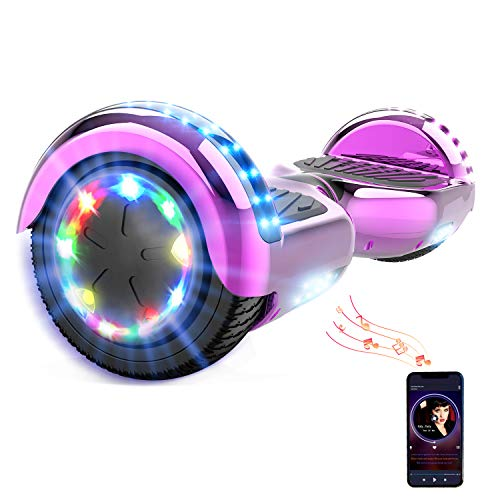 HITWAY 6.5Zoll Hoverboard LED Elektro Scooter Bluetooth 6,5 Zoll Elektro Scooter Self Balance Scooter für Kinder und Jugendliche