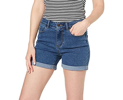 Vero Moda NOS Vmhot Seven NW Dnm Fold Shorts Mix Noos Pantalones Cortos para Mujer , Azul (Medium Blue Denim Medium Blue Denim) , 40 (Talla del fabricante: Medium)