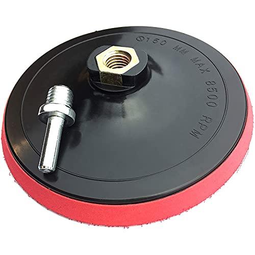 Almohadilla de respaldo para amoladora angular de 6 pulgadas / 150 mm con gancho y bucle Almohadilla de respaldo Lijadora orbital Pulidora Almohadilla de lijado Almohadilla (1PCS)