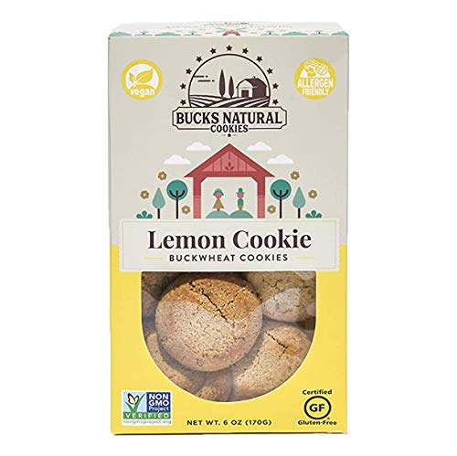 BUCKS NATURAL BUCKWHEAT LEMON COOKIE - Allergy Free, Gluten Free, Non GMO, Vegan, Dairy Free, Nut Free, School Safe, Locally Sourced, and Guilt Free Cookie (1 Pack)