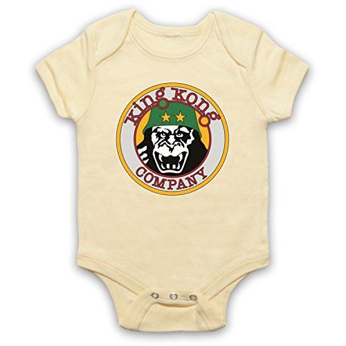 Taxi Driver King Kong Company Bebe Barboteuse Body, Jaune Clair, 12-18 Mois