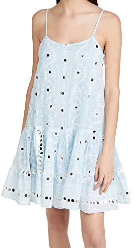 Juliet Dunn Women's Strappy Dress, Solid Pale Blue/White, 1