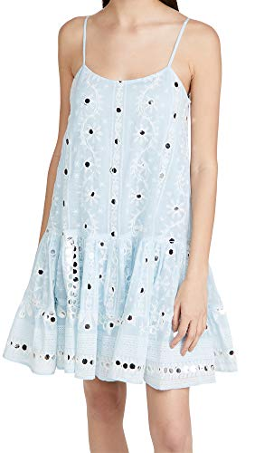 Juliet Dunn Women's Strappy Dress, Solid Pale Blue/White, 3
