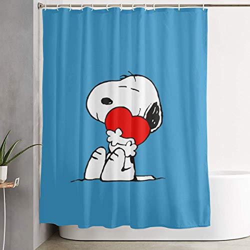 Meirdre Stilvoller Duschvorhang Snoopy Love, Bedruckt, wasserdicht, 152 x 183 cm