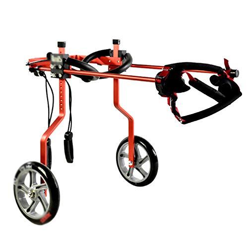 YangQI Hond rolstoel voor kleine hond Cat Walk, verstelbare wagen met 2 wielen huisdier rolstoel voor de revalidatie van het achterpoot