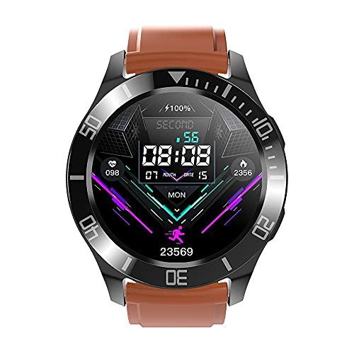 KaiLangDe Smartwatch Reloj Inteligente con Pulsómetro Cronómetros Calorías Monitor de Sueño Podómetro Monitores de Actividad Impermeable Reloj Deportivo para Android iOS Pulsera (Color : Orange)