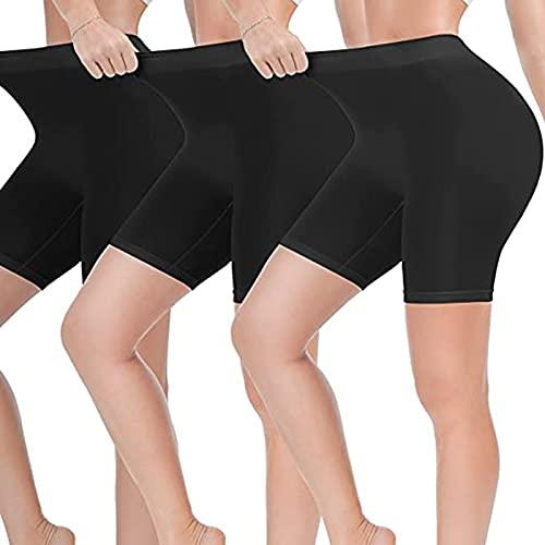 Junjie Leggings Mujer de Color Liso Mallas Corto de Cintura Alta Leggins Absorbentes y Transpirables Pantalones Cortos Deportivos de Reducir Vientre Shorts de Deporte Cómodo Ideal para Yoga y Pilates
