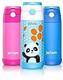 Jarlson - Gourde Enfant | Bouteille Isotherme Enfant 350 ML | Bouteille INOX sans BPA et étanche | pour l'école, Les Sports et la Maternelle