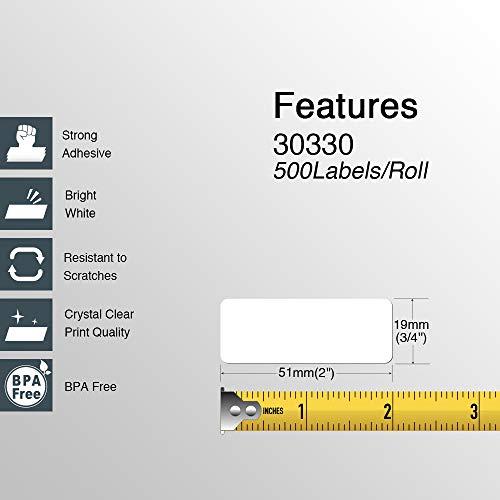 "BETCKEY - Compatible DYMO 30330 (3/4"" x 2"") Multipurpose/Return Address Labels - Compatible with Rollo, DYMO Labelwriter 450, 4XL & Zebra Desktop Printers[10 Rolls/5000 Labels] Photo #3"