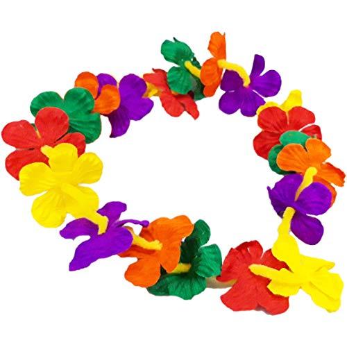 Bastelix.eu Hula-ketting, Hawaii-ketting, bloemenketting, ca. 94 cm, 5 stuks.
