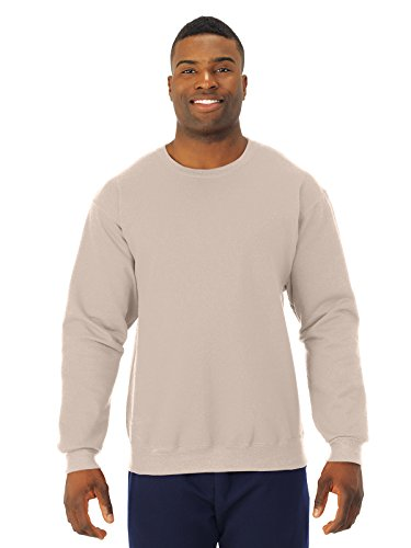 Jerzees-CrewNeck Sweat Shirt 50/50 Poly/Cotton 8oz. ~SandStone~Adult-LG