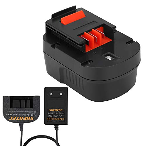 Shentec 12V 3500mAh Ni-MH Batería Con cargador para Black & Decker A12 HPB12 A12E A12-XJ A12EX FSB12 FS120B FS120BX A1712 B-8315 BD-1204L BD1204L BPT1047