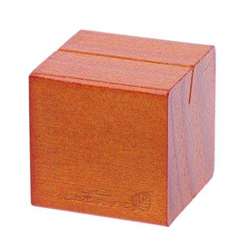 FKY Natuurlijke houten blok clips papier foto picture kaarthouder klem staander tafeldecoratie 3cmx3cm/1,18inx1,18in S