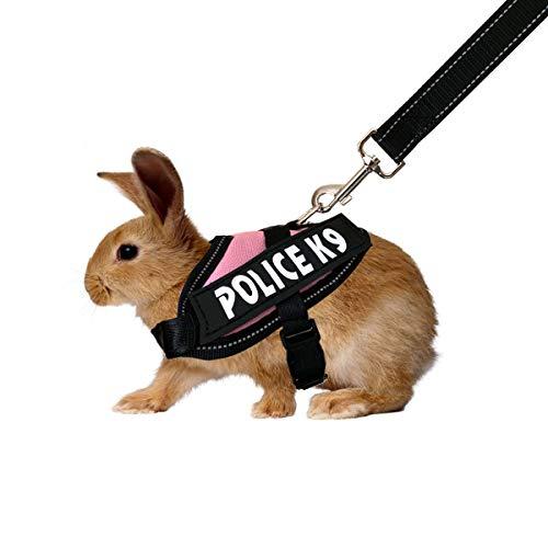 Vehomy Kleintier-Halloween-Geschirr für Kaninchen, kleine Haustiere, Fledermausflügel, Kleidung für Kaninchen, Welpen und kleine Katzen, Pink Rabbit Harness