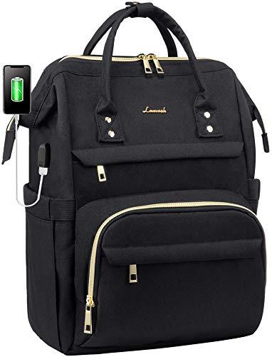 Laptop Backpack Women Teacher Backpack Nurse Bags 156 Inch Womens Work Backpack Purse Waterproof Antitheft Travel Back Pack with USB Charging Port Black