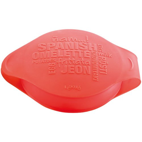 Lékué Spanish Omelette - Molde para tortilla española, color rojo