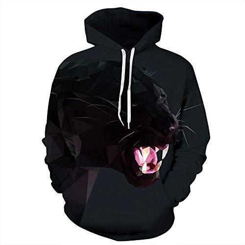 XINGMU 3D Gedrukt Sweatshirt Hoodie En Sweatshirt Zwarte Panter Pocket Lange Mouwen Jurk Pullover