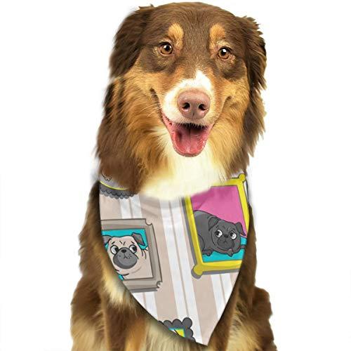 Cartoon Bulldog fotoalbum aangepaste hond kat Bandana driehoek slabbetjes sjaal huisdier geschikt voor kleine tot grote hond katten