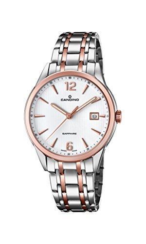 Candino Herren Datum klassisch Quarz Uhr mit Edelstahl Armband C4616/2