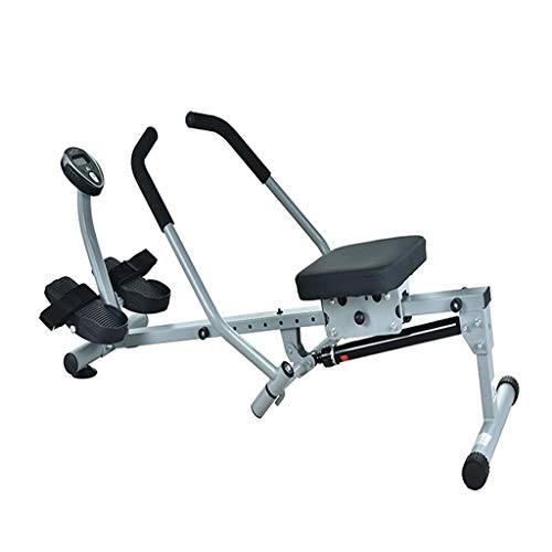 XBSLJ Foldable Rowing Machines Compact Rowing Machine, Adjustable Hydraulic Resistance Home Fitness Equipment w/Digital Monitor