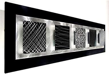 Black & Silver Modern Abstract Metal Wall Art Sculpture - Home Accent, Contemporary Home Decor- Balancing Act by Jon Alle