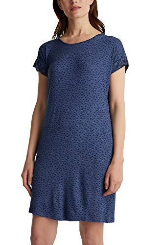 ESPRIT Jersey-Stretch-Nachthemd mit Print