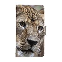 スマ通 Android One S3 国内生産 カード スマホケース 手帳型 SHARP シャープ アンドロイド ワン エススリー 【2-ライオン】 リアル アニマル 動物 q0002-a0060
