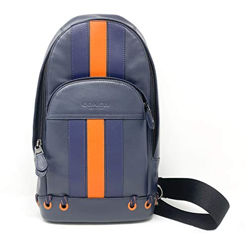 COACH HOUSTON PACK WITH BASEBALL STITCH (Navy Yellow)