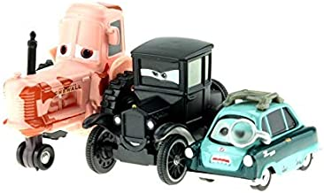 Desconocido Disney Disney Pixar Cars Cartoon Cars Lizzie Tractor Luigi Guido 1:55 Diecast Metal Alloy Cars Model Year Gift For Childrens 3pcs Lot