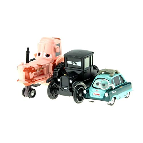 Desconocido Disney Disney Pixar Cars Cartoon Cars Lizzie Tractor Luigi Guido 1:55 Diecast Metal Alloy Cars Model Year Gift For Childrens 3pcs Lot