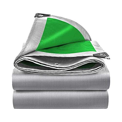 CYQ Lona Impermeable para Trabajo Pesado, [160G / Mm²] Lámina de Lona Gris Plateada PE, Cubierta Protectora Resistente a los rasgaduras Resistente a los Rayos Ultravioleta de Primera Calidad con