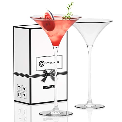 YY Juego de 2 vasos de martini, vasos de cóctel de cristal...